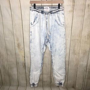 One Teaspoon Acid Wash Super Trackies Jogger Jeans